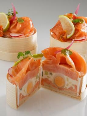 Nonette aux deux saumon en écrin