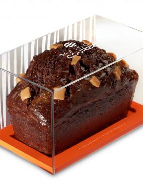 Le cake purement chocolat caramel crémeux