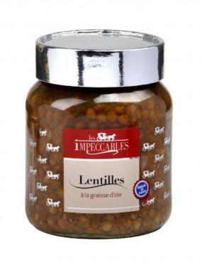 Lentilles à la graisse d'oie le bocal de 330 g