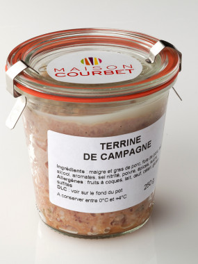 Terrine de campagne le bocal de 250 g