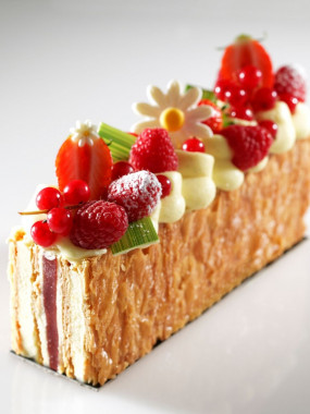 Millefeuille vanille fruits rouges 4 pers