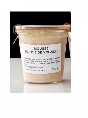 Mousse de foie de volaille le bocal de 250 g