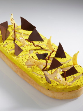 Tarte banane chocolat et vieux rhum 6 pers